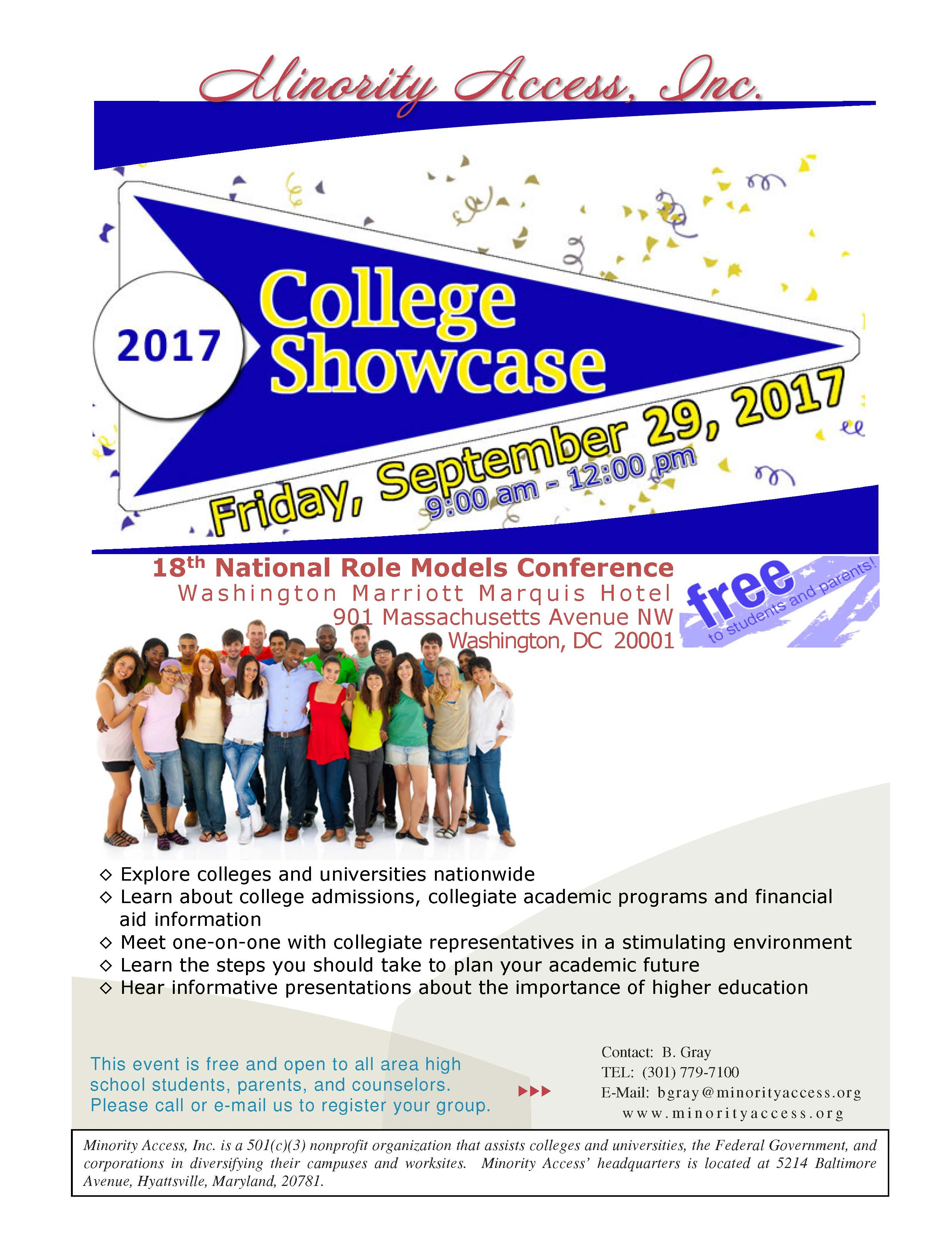 College Showcase Event Flyer